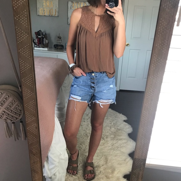 American Eagle Outfitters Tops - AE Orange Tank